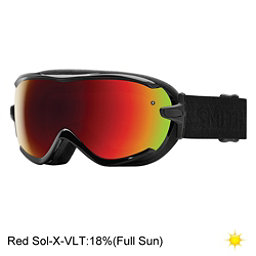 Smith Virtue Womens Goggles, Black Eclipse-Red Sol X Mirror, 256