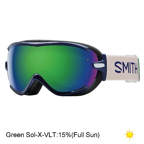 Smith Virtue Womens Goggles, Midnight Brighton-Green Sol X, 600