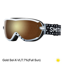 Smith Virtue Womens Goggles, White Dots-Gold Sol X Mirror, 256