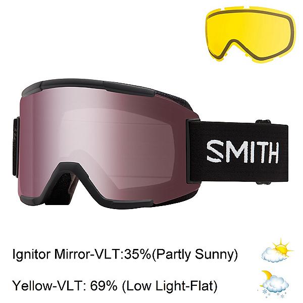 Smith Squad Goggles, Black-Ignitor Mirror + Bonus Lens, 600
