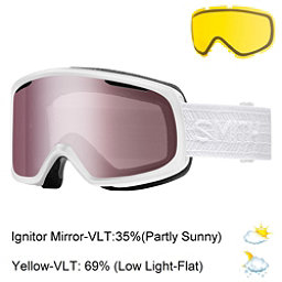 Smith Riot Womens Goggles, White Eclipse-Ignitor Mirror + Bonus Lens, 256