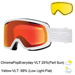 Smith Riot Womens Goggles, White Eclipse-Chromapop Everyd + Bonus Lens, 256