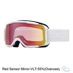 Smith Showcase Womens OTG Goggles, White Eclipse-Red Sensor Mirro, 256