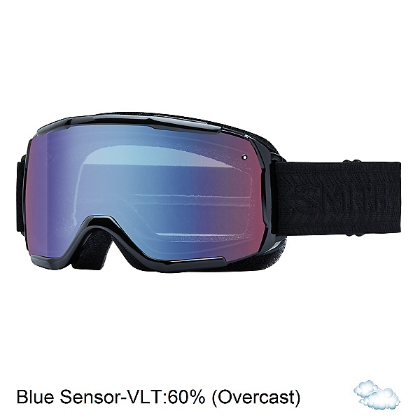 Smith Showcase Womens OTG Goggles, Black Eclipse-Blue Sensor Mirr, 600