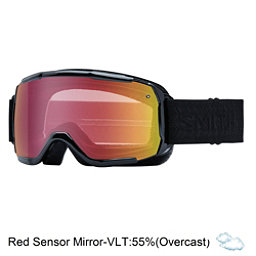 Smith Showcase Womens OTG Goggles, Black Eclipse-Red Sensor Mirro, 256