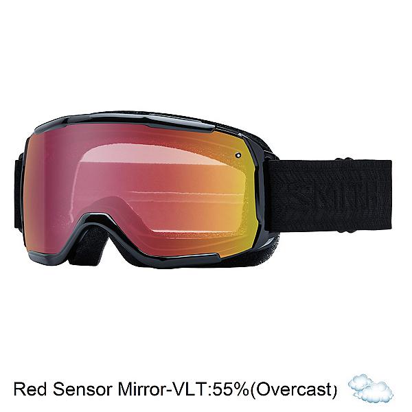 Smith Showcase Womens OTG Goggles, Black Eclipse-Red Sensor Mirro, 600