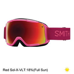 Smith Grom Girls Goggles, Fuchsia Static-Red Sol X Mirro, 256