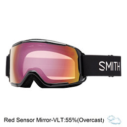 Smith Grom Kids Goggles 2018, Black-Red Sensor Mirror, 256