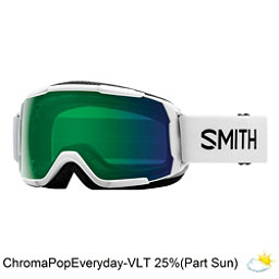 Smith Grom Kids Goggles 2018, White-Chromapop Everyday Green, 256