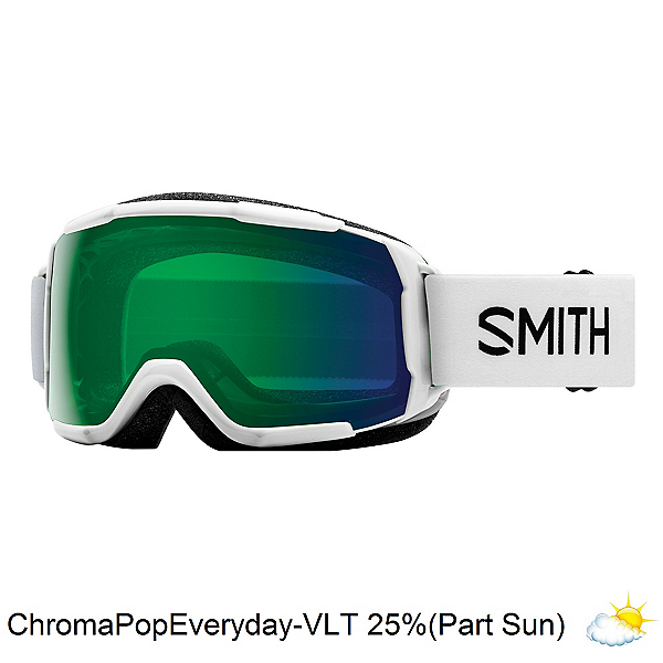 Smith Grom Kids Goggles 2018, White-Chromapop Everyday Green, 600