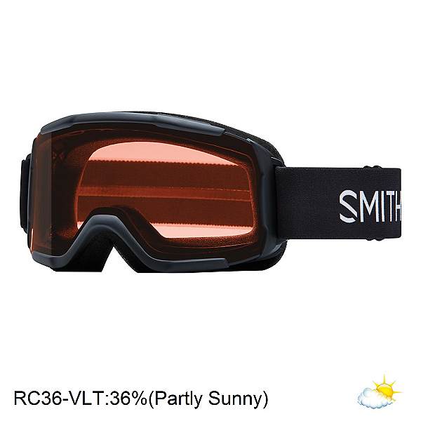 Smith Daredevil Kids Goggles, Black-Rc36, 600