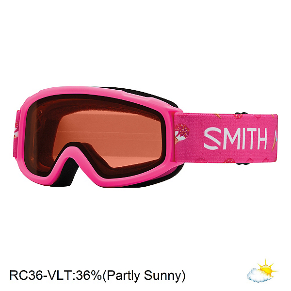Smith Sidekick Girls Goggles, Pink Sugarcone-Rc36, 600