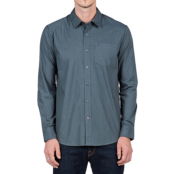 Volcom Everett Solid Long Sleeve Mens Shirt, , 600