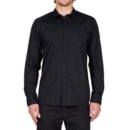 Volcom Everett Solid Long Sleeve Mens Shirt, Black, 256