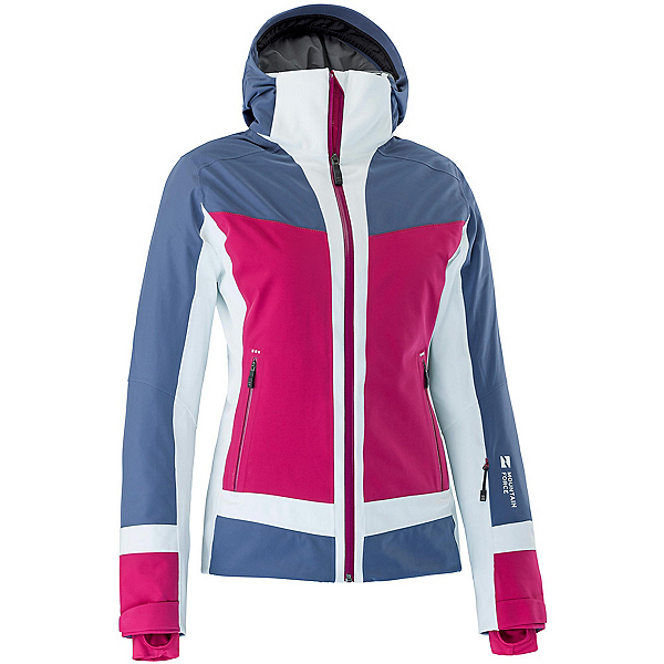 Mountain Force Cora Womens Insulated Ski Jacket, Indigo Blue-Cerise-White, 600