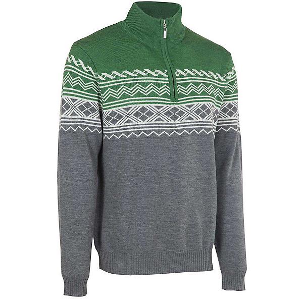 Neve Designs Lars Zip-Neck Mens Sweater, Olive, 600