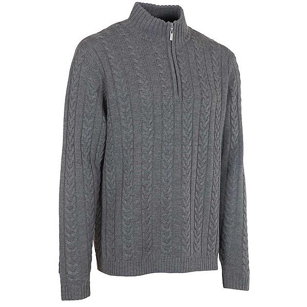Neve Designs Andrew Zip-Neck Mens Sweater, Grey, 600
