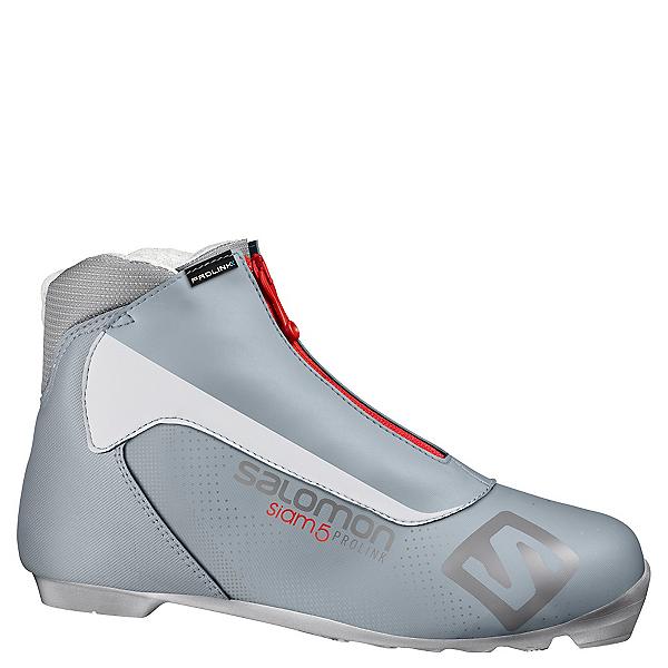 Salomon Siam 5 Prolink Womens NNN Cross Country Ski Boots 2018, Grey, 600