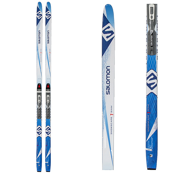 Salomon Snowscape 7 Siam Womens Cross Country Skis with Bindings, Black, 600