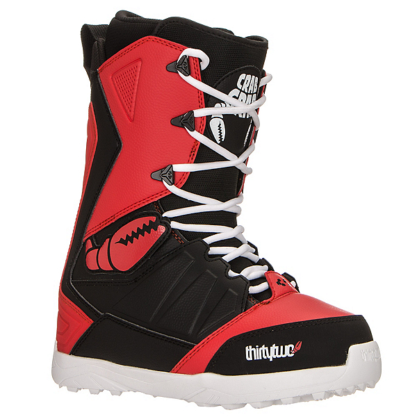 ThirtyTwo Lashed Crab Grab Snowboard Boots, Black-Red, 600