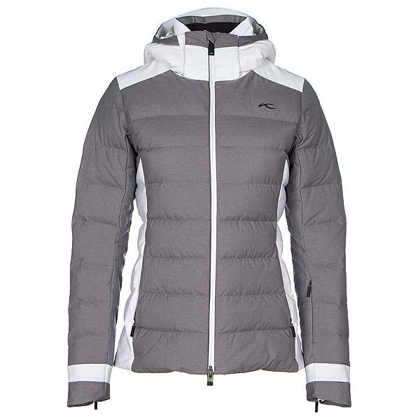 KJUS Snowscape Womens Insulated Ski Jacket, Nine Iron Melange-White, 600