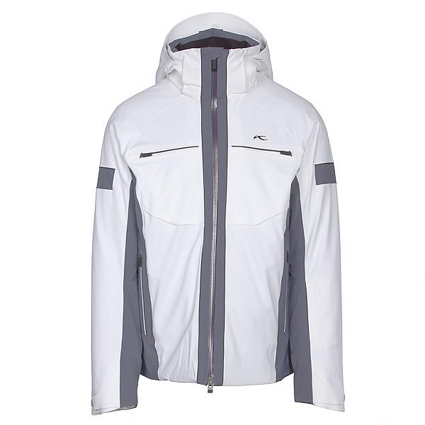 KJUS Downforce Mens Insulated Ski Jacket, White-Nightshadow Blue, 600