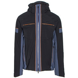 KJUS Downforce Mens Insulated Ski Jacket, Black-Nightshadow, 256