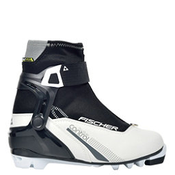Fischer XC Control My Style Womens NNN Cross Country Ski Boots, Black-White, 256