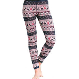 Purnell Reindeer Print Base Layer Legging, Navy-Cream, 256