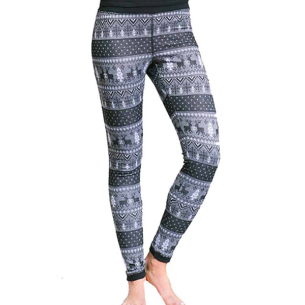 Purnell Reindeer Print Base Layer Legging, Black-Grey, 600