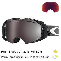 Oakley Airbrake Shaun White Prizm Goggles, Echelon Forged Iron-Prizm Blac + Bonus Lens, 256
