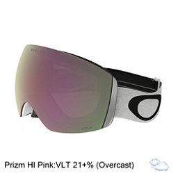 Oakley Flight Deck Goggles 2018, Matte White-Prizm Hi Pink Irid, 256