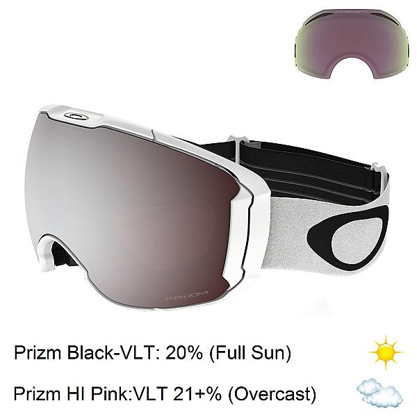 Oakley Airbrake XL Prizm Goggles 2018, Polished White-Prizm Black Iri + Bonus Lens, 600