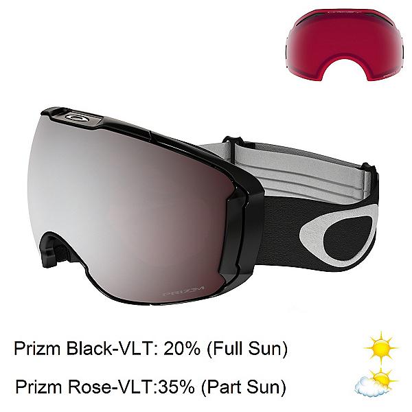 Oakley Airbrake XL Prizm Goggles 2020, Jet Black-Prizm Black Iridium + Bonus Lens, 600