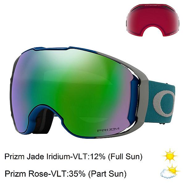 Oakley Airbrake XL Prizm Goggles, Poseidon Brush-Prizm Jade Irid + Bonus Lens, 600