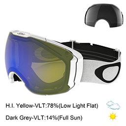 Oakley Airbrake XL Goggles, Polished White-Hi Yellow Iridi + Bonus Lens, 256