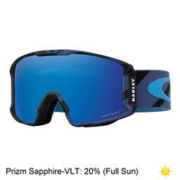 Oakley Line Miner Prizm Goggles 2018, Hazard Bar Blue-Prizm Sapphire, 256