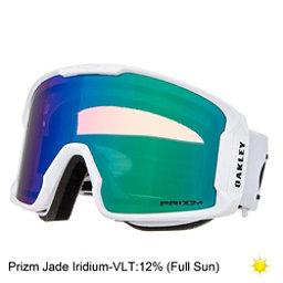 Oakley Line Miner Prizm Goggles 2018, Matte White-Prizm Jade Iridium, 256