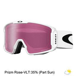 Oakley Line Miner Prizm Goggles 2018, Matte White-Prizm Rose Iridium, 256