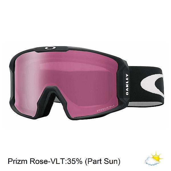 Oakley Line Miner Prizm Goggles, Matte Black-Prizm Rose Iridium, 600
