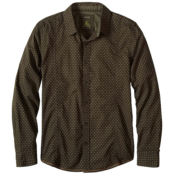 Prana Lukas Slim Mens Shirt, Dark Olive, 600