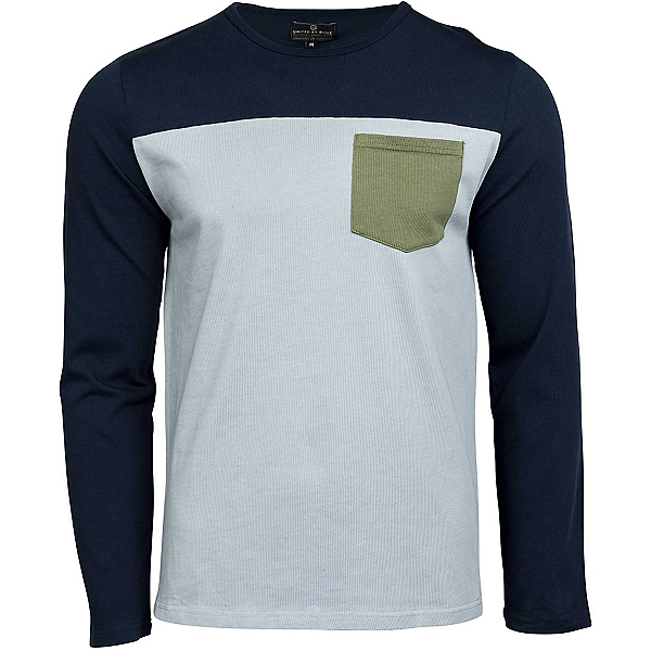 United By Blue Standard Long Sleeve Colorblock Pocket Mens Shirt, , 600