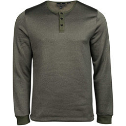 United By Blue Standard Long Sleeve Henley Mens Shirt, Olive, 256