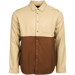 United By Blue Banff Colorblock Wool Mens Shirt, Tan-Brown, 256