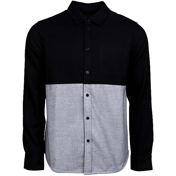 United By Blue Banff Colorblock Wool Mens Shirt, Black-Grey, 600