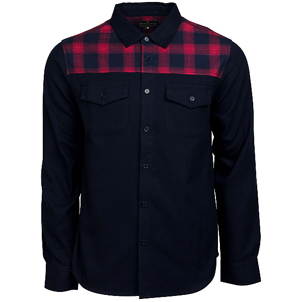 United By Blue Banff Plaid Trim Wool Mens Shirt, , 600