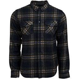 United By Blue Lhotse Wool Plaid Flannel Shirt, Navy-Tan, 256