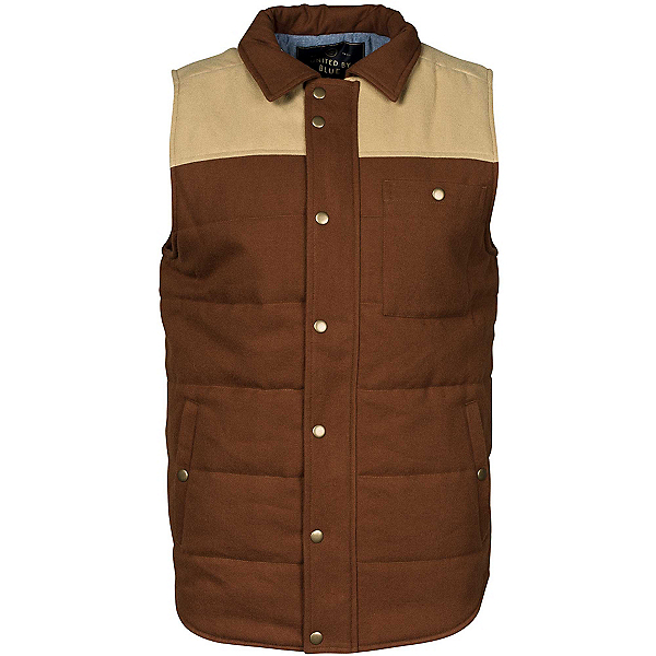 United By Blue Drummond Colorblock Vest, Tan-Brown, 600