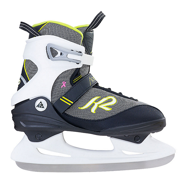 K2 Alexis Womens Figure Ice Skates, Black-Yellow, 600