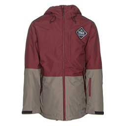 ThirtyTwo Shiloh Mens Insulated Snowboard Jacket, Burgundy, 256